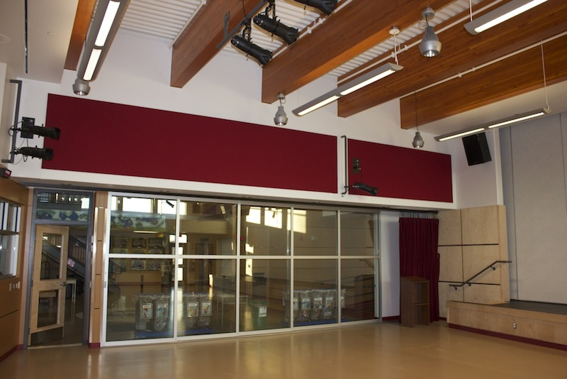 North Saanich Middle School : Acousti-trac - Upper wall Acousti-trac panel