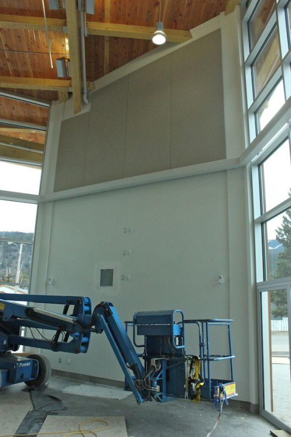 North West Community College : Acousti-trac - More finished panels at North West Comm. College.
